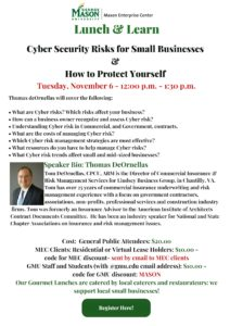 LUNCH & LEARN – Cyber Security Risks for Small Businesses & How to Protect Yourself