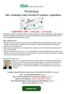 workshop – Sales Growth, Customer Acquisition, and more at the MEC